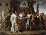 Juan Antonio Ribera Y Fernandez Cincinnatus Leaving the Plough to Bring Law to Rome oil painting